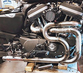 Cafe Racer Harley Build Custom Exhaust Welding, Harley Motocycle Builders Iron Hawg Custom Cycles Pennsylvania