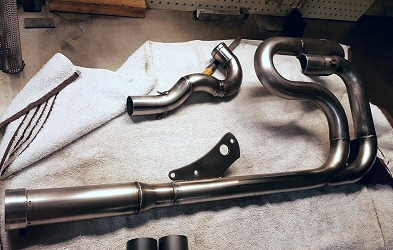 Cafe Racer Harley Build Custom Exhaust, Harley Motocycle Builders Iron Hawg Custom Cycles Pennsylvania