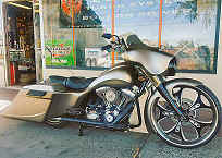 Custom Bagger Build Pennsylvania - Bernies Bagger By Iron Hawg Custom Motorcycles Pennsylvania