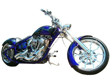 Custom Chopper The Godfather, Built by Iron Hawg Custom Choppers