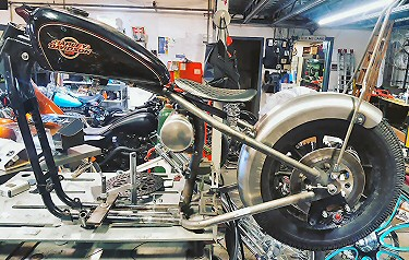 Iron Hawg Custom Cycles Specializes In Custom Motorcycle Frames, Hardtailing Frames, Hardtail Sportsters Frames, Motorcycle Neck Modifications, Custom Motorcycle Frame Stretching