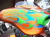 Motorcycle Paint and Graphics - Iron Hawg Custom Cycles Inc.