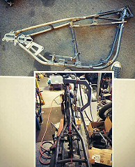 Hardtail Motorcycle Frames Modifications, Hardtail Sportsters, Custom Motorcycle Frame Fabrication