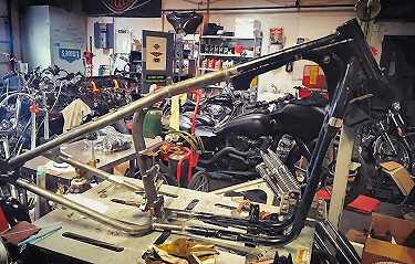 Hardtail Motorcycle Frame Modifications - Custom Hardtail Fabrication Modification - We Can Hardtail Anything!