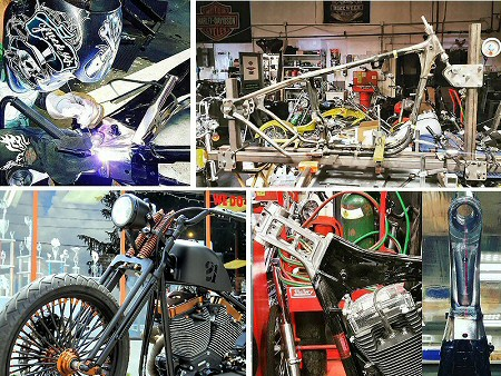 Custom Motorcycle Frames - Frame Modifications - Hardtail Frame Harley Sportsters - Steering Neck Tube Modifications