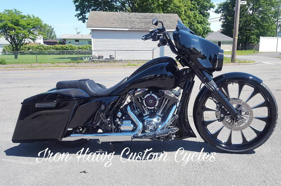 custom harley bagger motorcycles built by iron hawg cc custom harley
