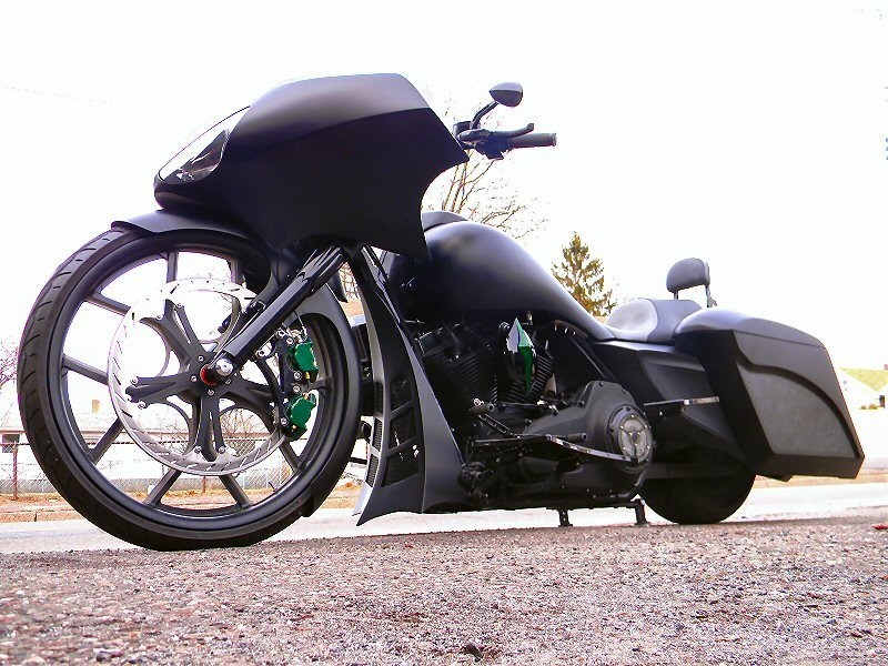 The Phantom Custom Bagger Motorcycle By Iron Hawg Cc
