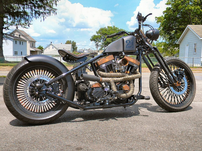 Custom Bobber Motorcycle Build - The Blitzkrieg Bobber,Custom Bobber ...